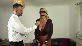Busty mature acts obedient in a kinky 50 shades of Grey porn game