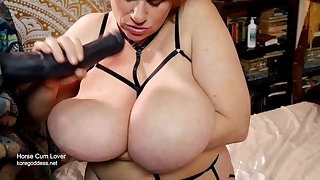 Fantasy huge tits cum bath for this horny housewife