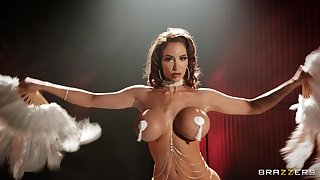 Fine MILF strips for the dick and handles it with care