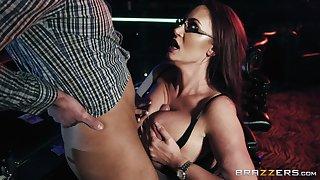 Busty increase e inflate stripper Emma Butt gets cum on her huge titties