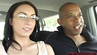 Mom in glasses fucks Blackzilla monster black cock