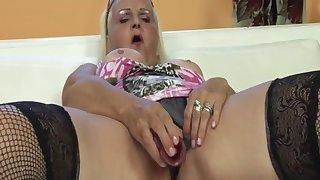 Rub-down the horniest granny ever