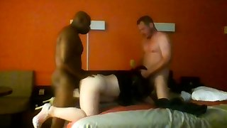 Doggystyle triad and hot blowjob