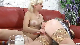 Overfed mummy Elsa gets pulverized stiff hard by ash-blonde lezzy porn tube