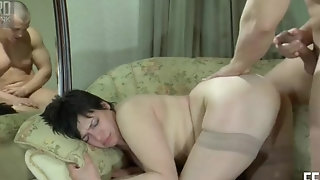 Obese plus super-steamy brown-haired cougar Elsa likes hard-core buttfuck pornvideo