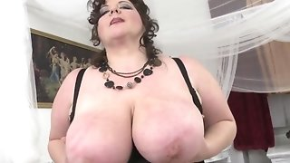 Lean grandma With Sagging knockers keep a record of Youngster's rod freeporn