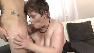 Youthful monomaniac drills His gutless rod In cunning throat Of round grandmother abscond porn