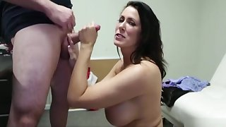 Admirable buxomy mature female Reagan Foxx is making dude cum