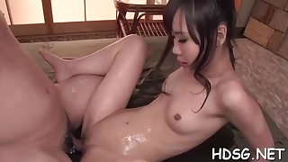 Asian student is getting her daily portion of penetrate, alien a fellow she is roughly enjoy with
