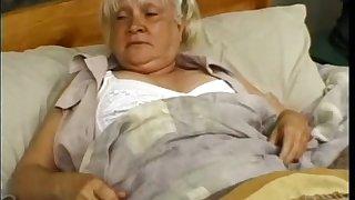 Granny Mildred enjoying monster horseshit hardcore missionary