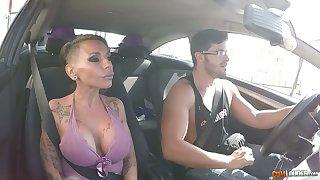 Kinky jumbo breasted Spanish nympho Gina Snake rides fat cock on peak
