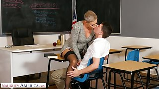 Big assed professor Ryan Keely makes a young man forget about his ex GF