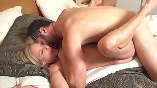 Busty milf has sex with sleepwalking stepson