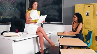 Educator Cherie DeVille hooks up with sexy student Jeni Angel
