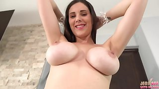 hot busty babe Lillian Stone solo video