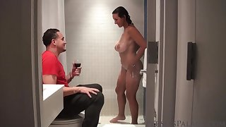 Persia Monir hot MILF Shower Seductress
